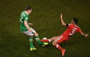 عکس/ مصدومیت وحشتناک بازیکن ایرلند