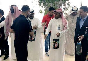 استقبال خاص عربستانیها از تیمملی عراق +عکس