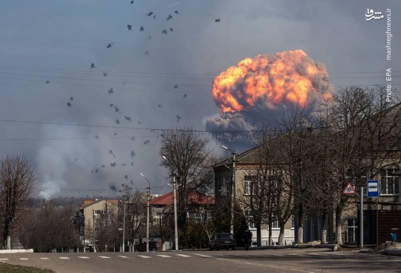 تخلیه 20 هزار شهروند اوکراینی پس از انفجار انبار مهمات خارکف
