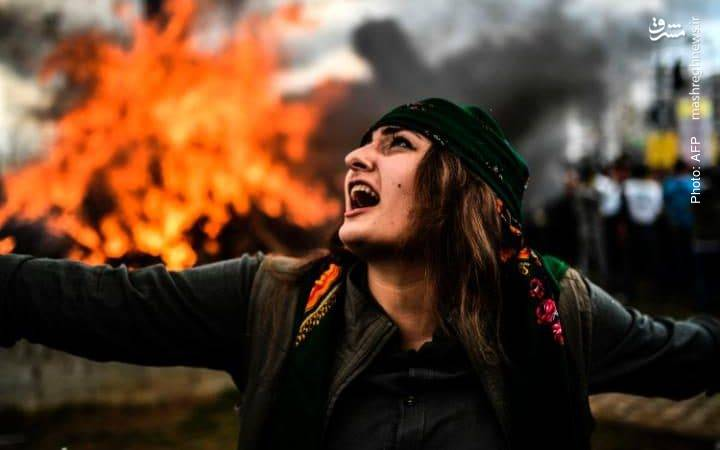 جشن نوروزی کردها در دیاربکر ترکیه