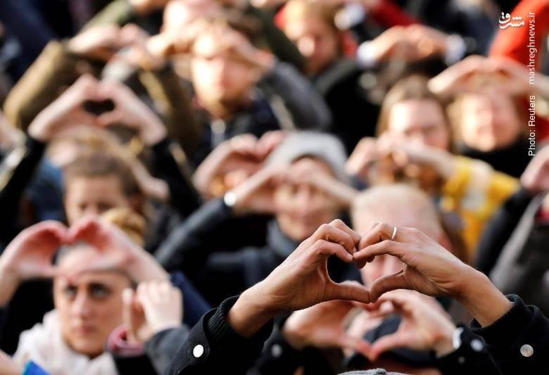 مراسم یادبود اولین سالگرد انفجار تروریستی در بروکسل