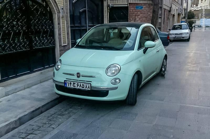 تصویری از خودروی کم مصرف ایتالیایی در پایتخت