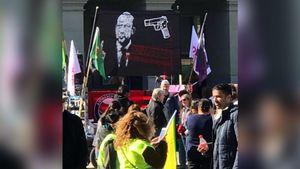 شعار کمپین سیاسی در سوئیس: اردوغان را بکشید