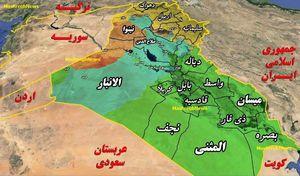 نقشه تحولات عراق