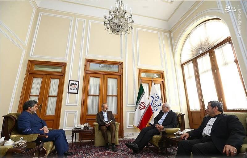دیدار نوروزی وزیر امور خارجه و رئیس مجلس
