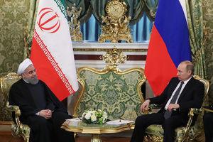 ملاقات پوتین و روحانی در کاخ کرملین