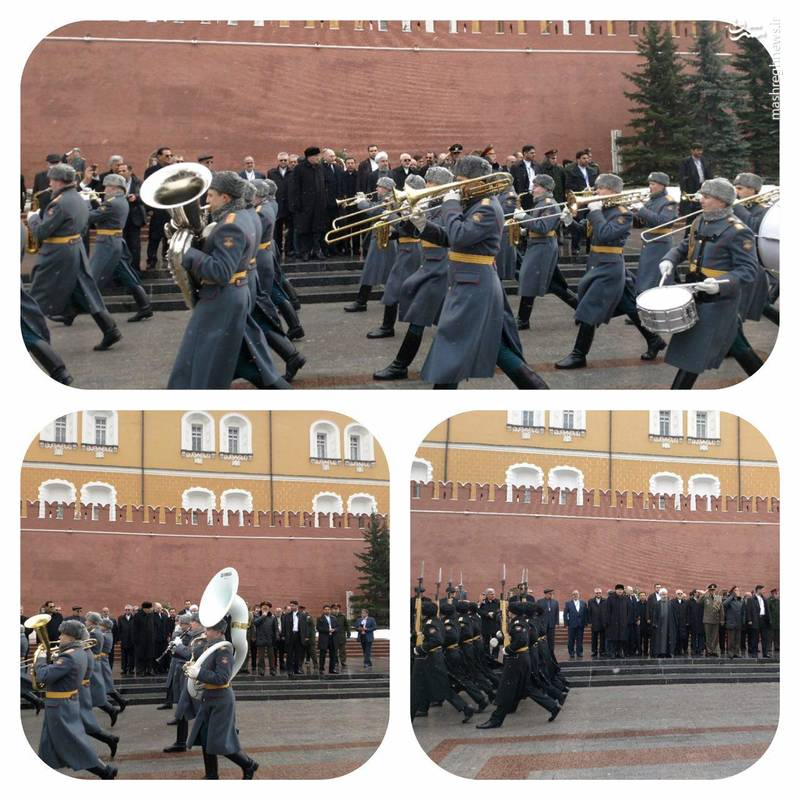 ادای احترام روحانی به سرباز گمنام روس