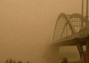 پل اهواز در گرد و خاک