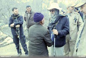 کوهپیمایی و بازدید دکتر لاریجانی از روستای سنج برغان