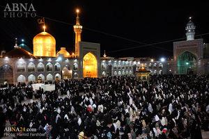 عکس/ حال و هوای حرم رضوی در شب شهادت امام هادی(ع)