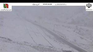 عکس/ بارش برف در محور شاهرود