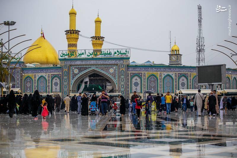 ع  ایرانی مشرق نیوز - عکس/ بارش باران در کربلا