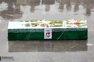 تشیییع شهید در حرم رضوی