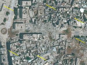 مقایسه حلب قبل و بعد از هجوم تروریستها