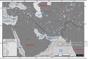 زلزله های بزرگتر از ۶ ریشتر در خاورمیانه از سال ۱۹۰۰