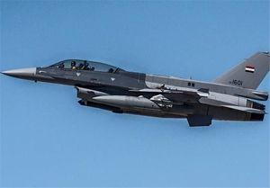 فیلم/حمله جنگنده عراقی به مقر داعش در سوریه