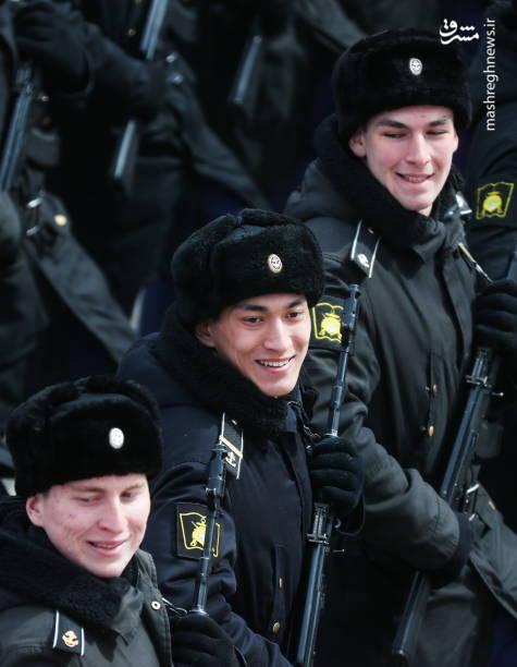 تمرین رژه روز پیروزی در میدان سرخ مسکو