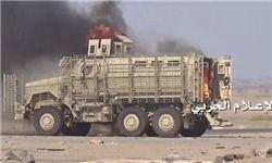 انهدام خودروی زرهی امارات در خاک یمن