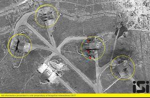 حمله آمریکا به پایگاه هوایی سوری به روایت ماهواره اسرائیلی +عکس