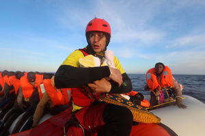 نجات ۲۰ قایق مهاجران لیبی