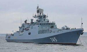 ناو ضدزیردریایی روسیه وارد دریای مدیترانه شد