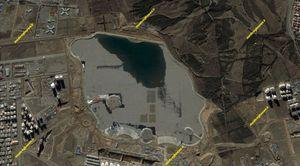 تصاویر ماهوارهای از روند ساخت دریاچه خلیج فارس