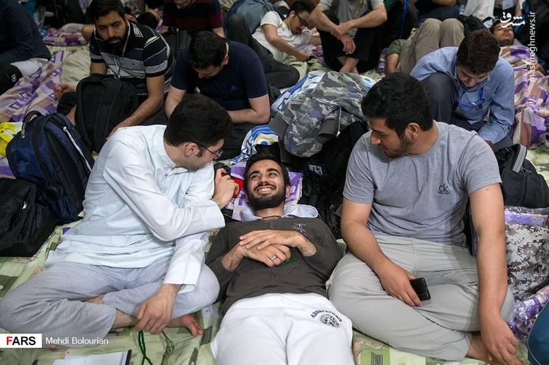 مراسم معنوی اعتکاف در دانشگاه تهران