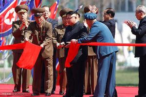 عکس/ مراسم افتتاح آسمان خراش ها در کره شمالی