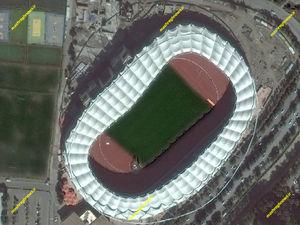 تصاویر ماهوارهای ورزشگاه امام رضا علیه السلام در مشهد