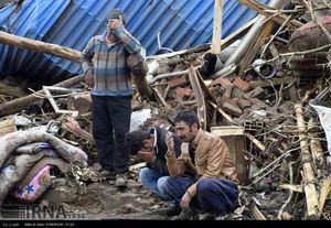 تصاویری از جاری شدن سیل در روستاهای آذربایجان غربی