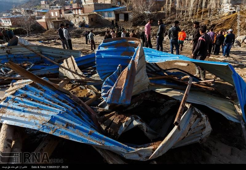 روستای چنار پرتلفات ترین منطقه سیل زده آذربایجان شرقی