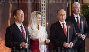 عکس/ حجاب همسر نخست وزیر روسیه