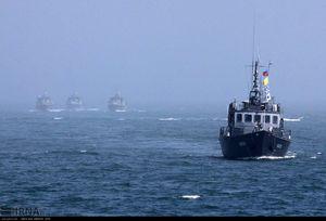 عکس/ رژه دریایی ناوگان شمال در دریای خزر