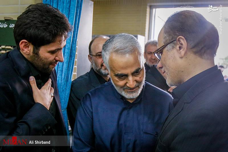 حاج قاسم سلیمانی در مراسم بزرگداشت سردار دانشیار