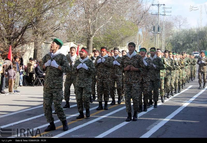 رژه روز ارتش در مراغه