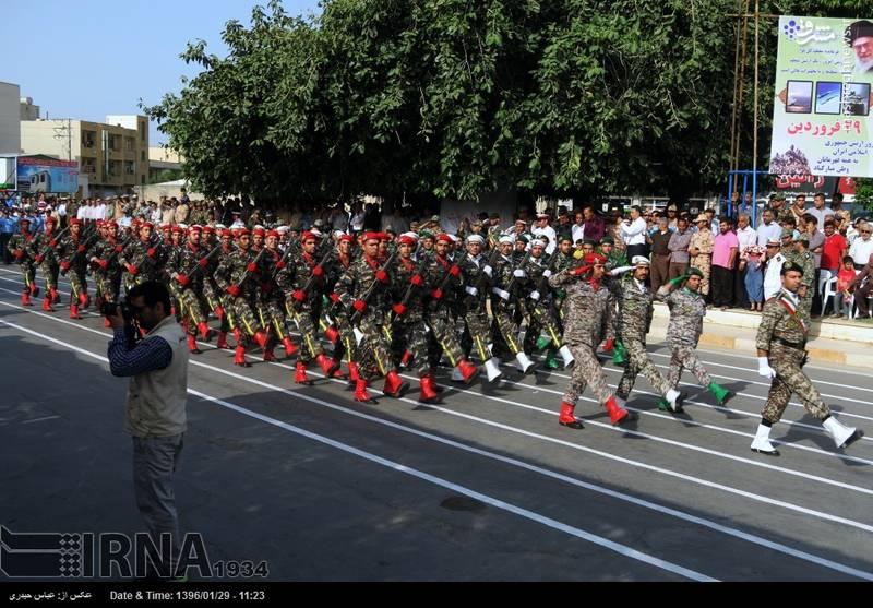 رژه روز ارتش در بوشهر
