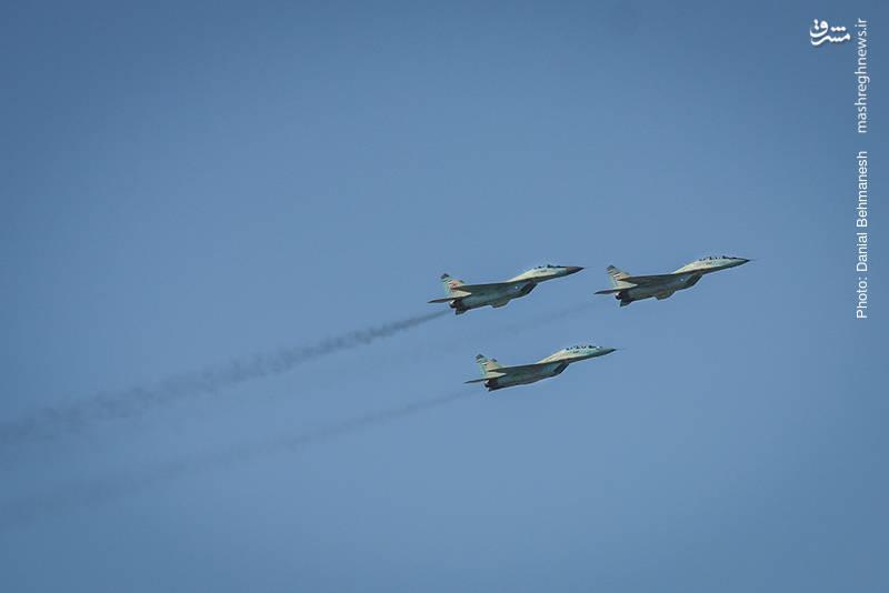 دسته سه فروندی جنگنده آموزشی/رهگیر MiG-29UB و MiG-29A فالکروم