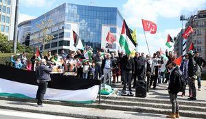 تصاویر/ اعتراضات ضد اسرائیلی در بروکسل