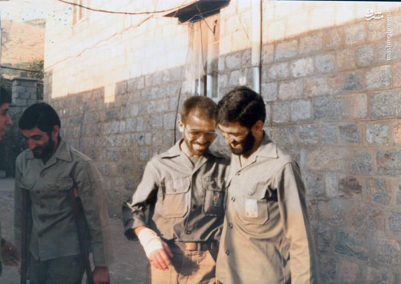 از راست: حاج احمد متوسلیان، شهید رضا چراغی و جواد اکبری