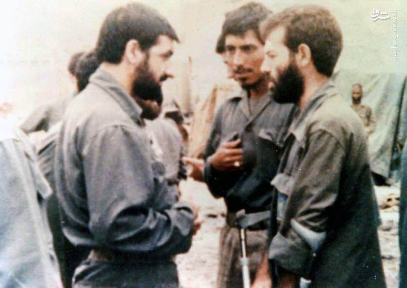 از راست: شهید رضا چراغی، شهید ولی الله چراغچی، محسن رضایی
