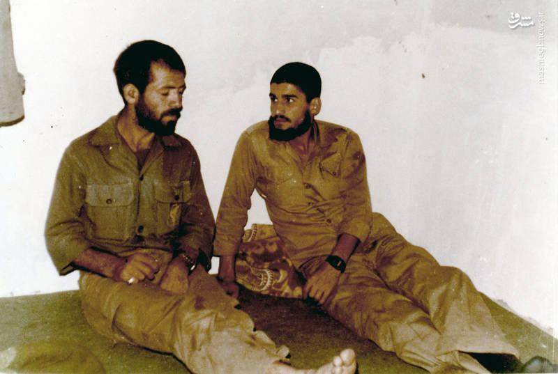 شهید رضا چراغی و شهید اکبر زجاجی