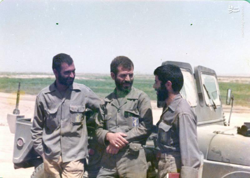 از راست: شهید محمدحسین مردی ممقانی، شهید  رضا چراغی، مجتبی عسکری