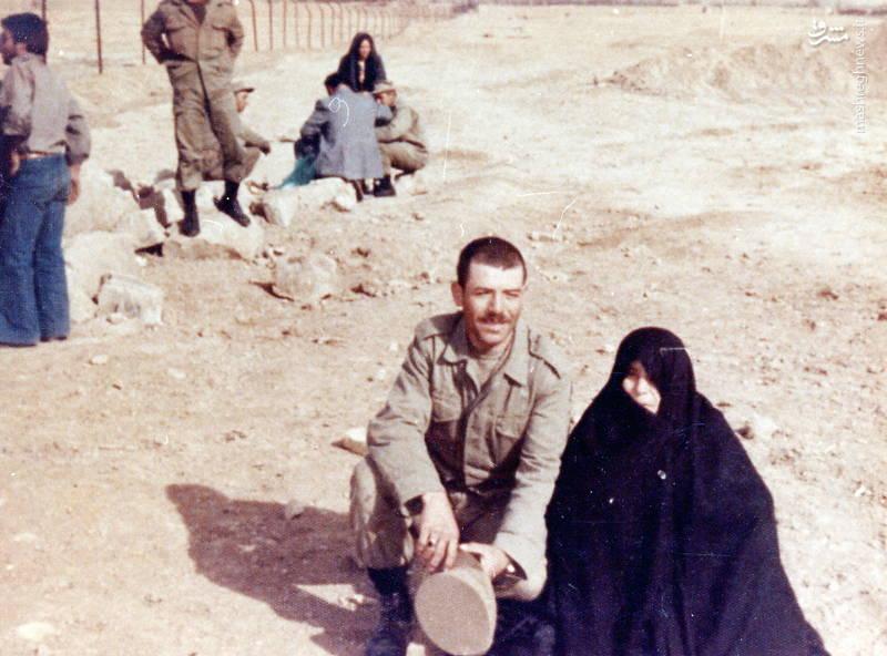 رضا چراغی و مادرش