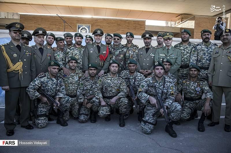 دیدار فرمانده نیروی زمینی ارتش با وابستگان نظامی خارجی