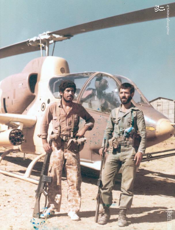 رضا چراغی(نفر سمت راست) و سیف الله منتظری