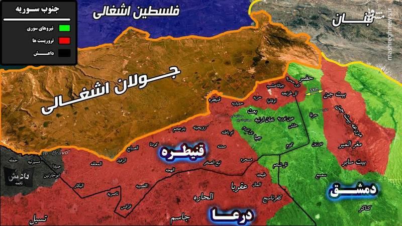 پیروزی بزرگ ارتش سوریه و حزب الله؛ پس از ۶ سال امنیت به مناطق مرزی لبنان و سوریه بازگشت +نقشه