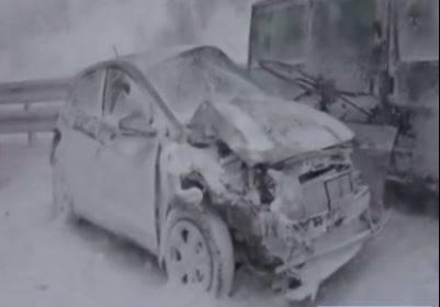فیلم/ طوفان و برف شدید در اسلواکی