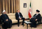 دیدار رهبری و روحانی با الهام علیاف