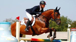 عکس/ پنچر شدن اسب در مسابقه