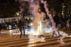 عکس/ درگیریها میان مخالفان مارین لوپن و پلیس فرانسه